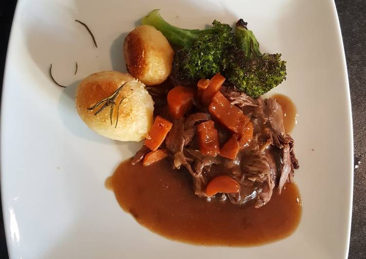 Slow Cooked Shredded Beef. Roast Spuds and Roasted Broccoli, What Are The Benefits Of Eating Superfoods?