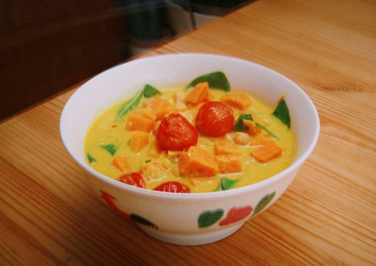 Sweet Potato Chickpeas Curry