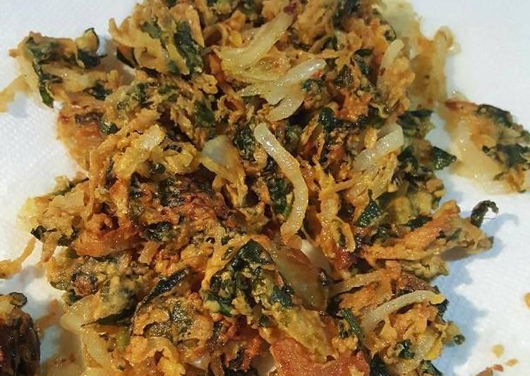 Spinach & onion pakodi/pakora