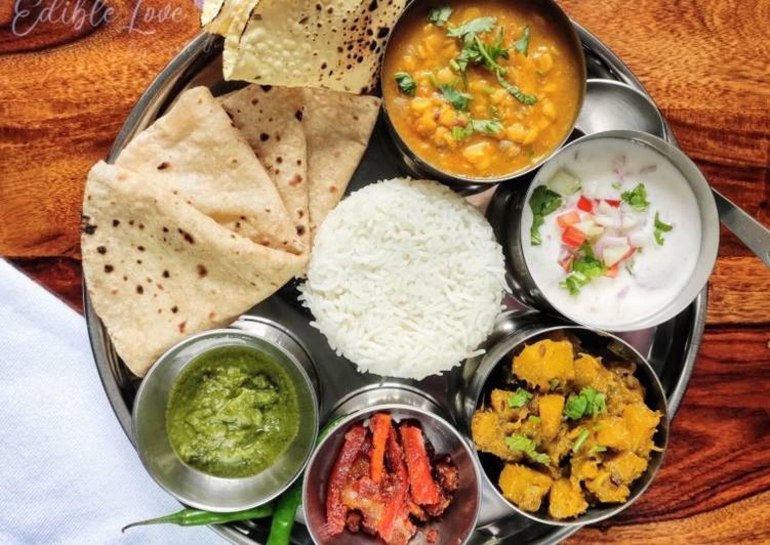 Simple veg thali