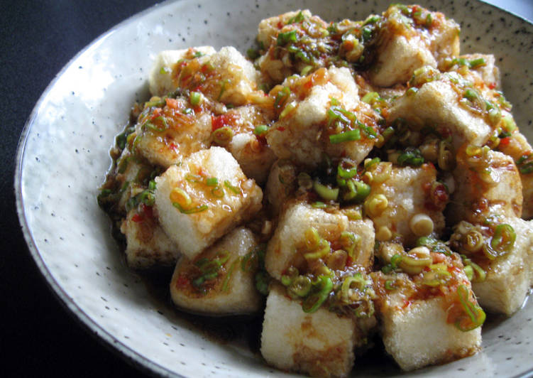 Steps to Make Speedy Fried Tofu With Spicy Garlic Sauce
