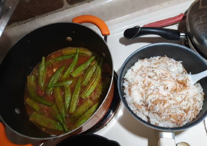Steps to Prepare Super Quick Homemade Chicken and Okra stew