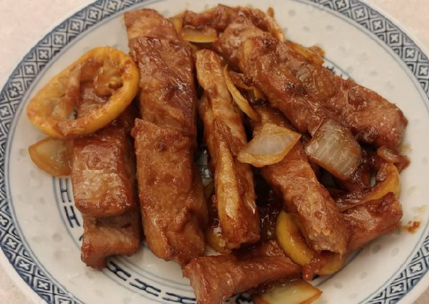 薑檸豬肉 (Ginger Lemon Pork)