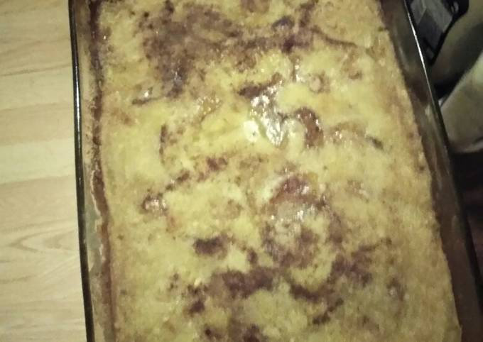 Peach Cake Cobbler