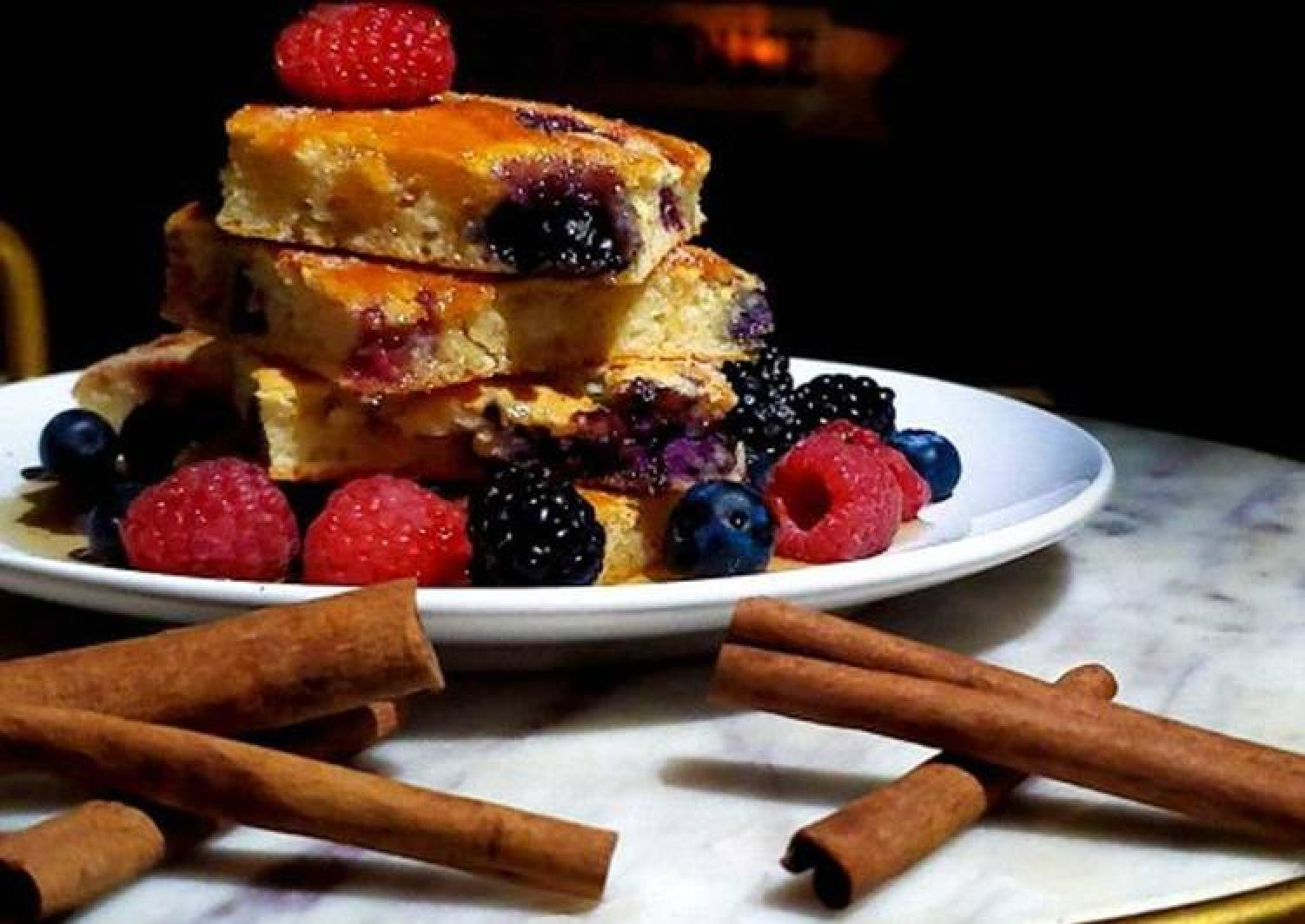Baked Berry Berry Pancakes