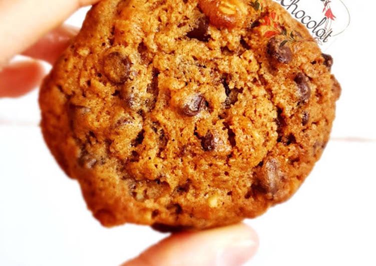 Cookies noix chocolat inspirés de hervé cuisine
