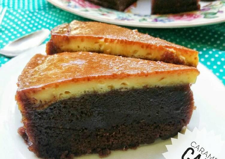 Caramel puding cake