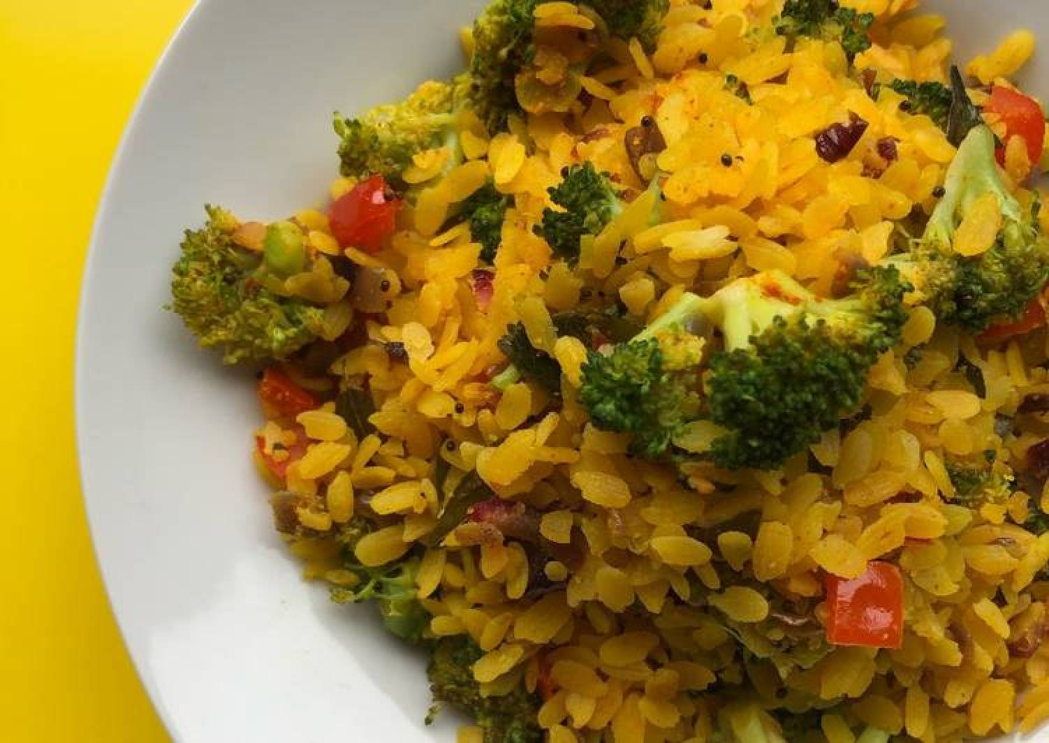 Broccoli Lime Poha | Breakfast Recipe | Fiber Rich Breakfast