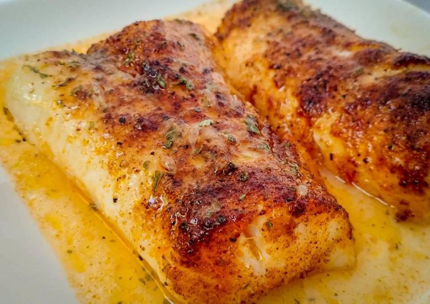 Spiced Cod Fillets in Lemon Butter