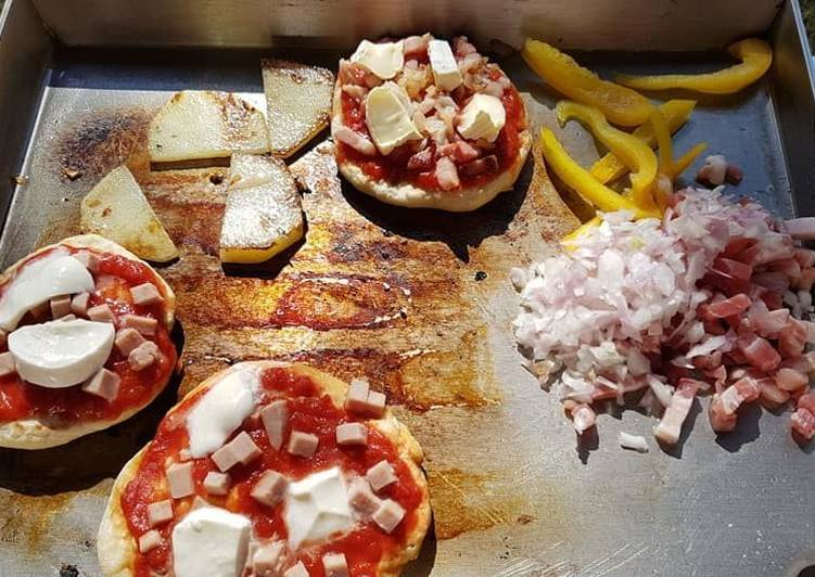 Pizza a la plancha