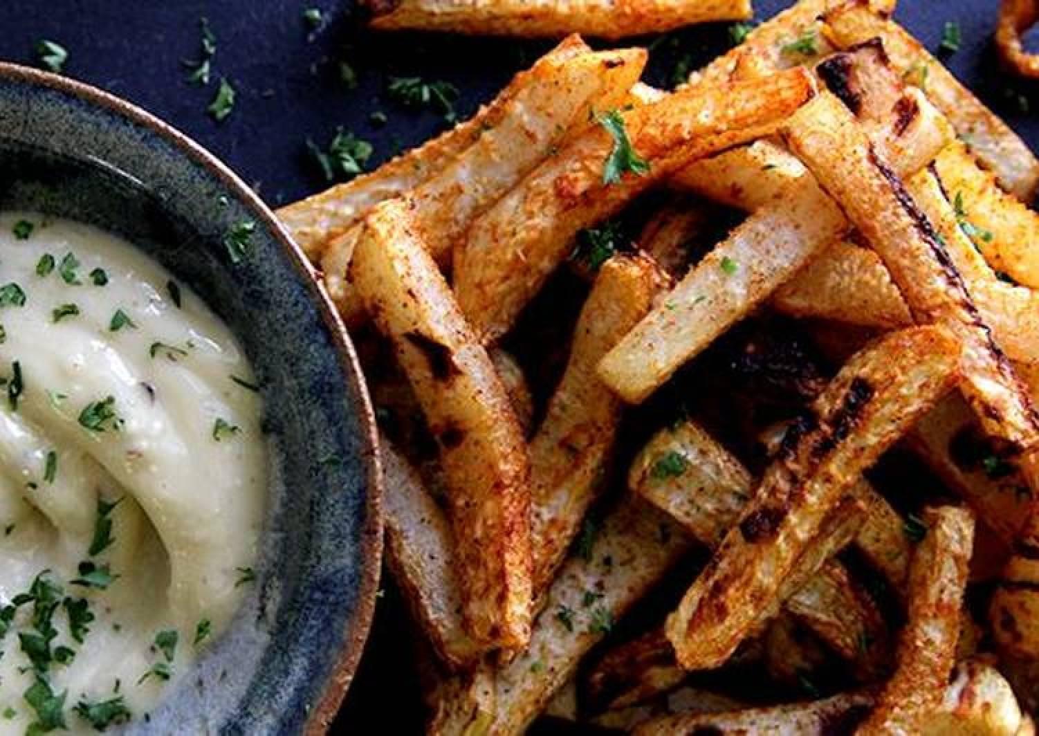 Kohlrabi Fries with Garlic Aioli