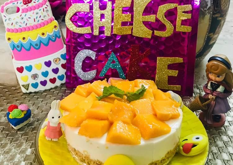 Mango 🥭 cheese 🍰 cake