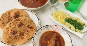 Chicken nihaari with homemade whole wheat naan