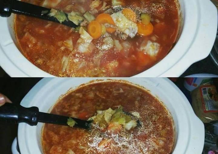 Hamburger Cabbage Soup