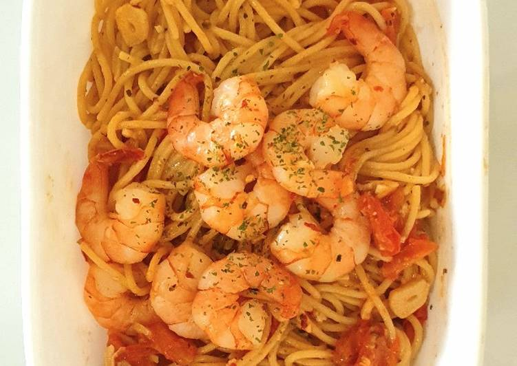 One Pan Shrimp Pasta