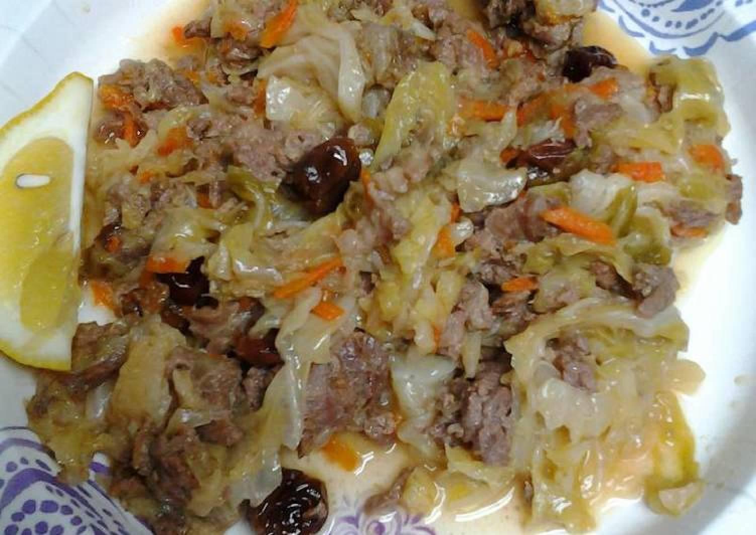 Cabbage carne picada
