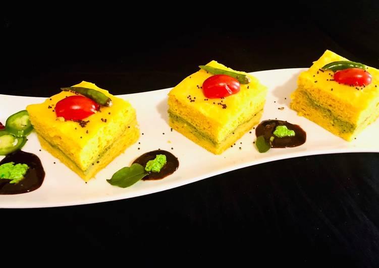 Pesto Kaman Dhokla