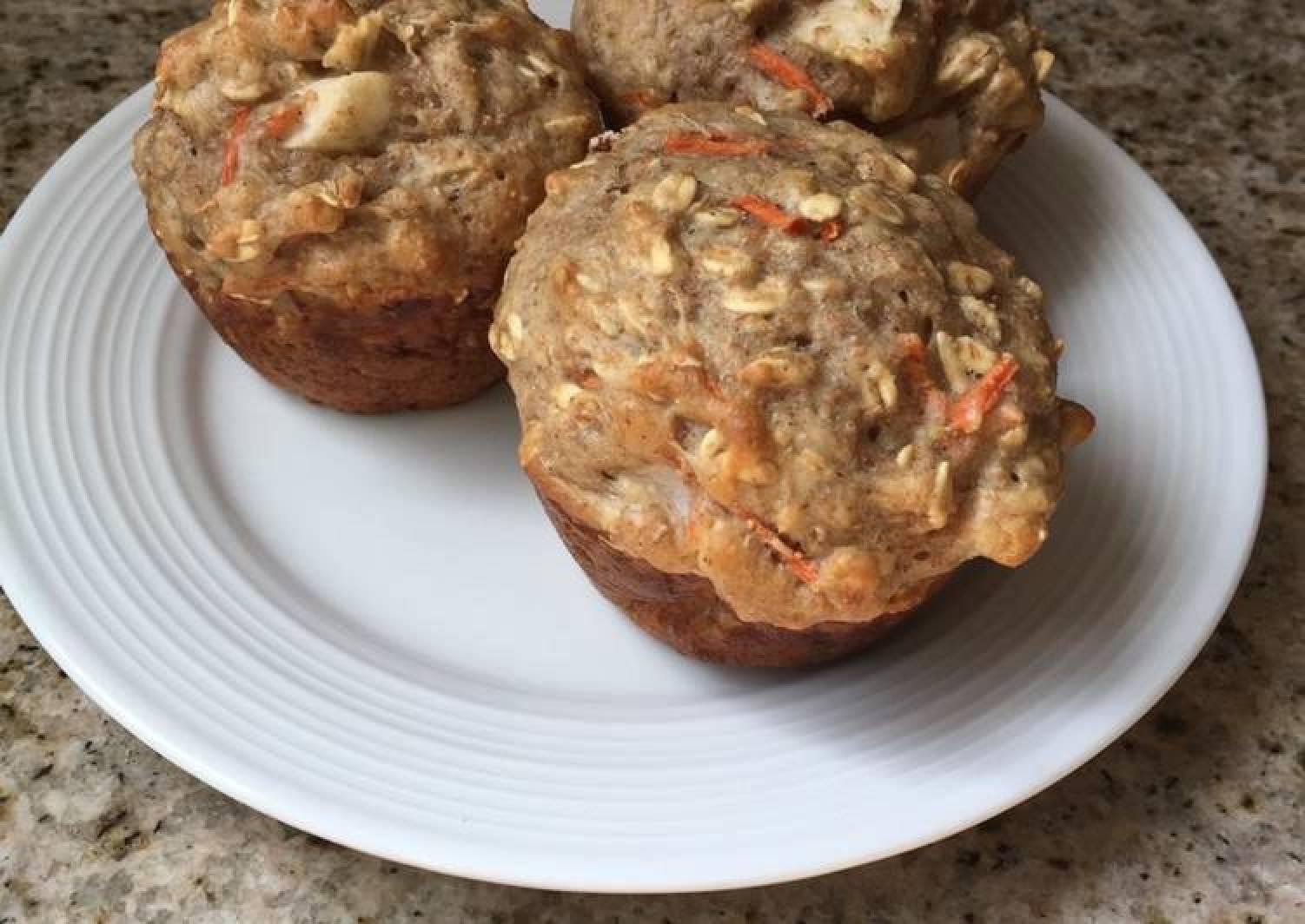 Apple carrot oat muffin