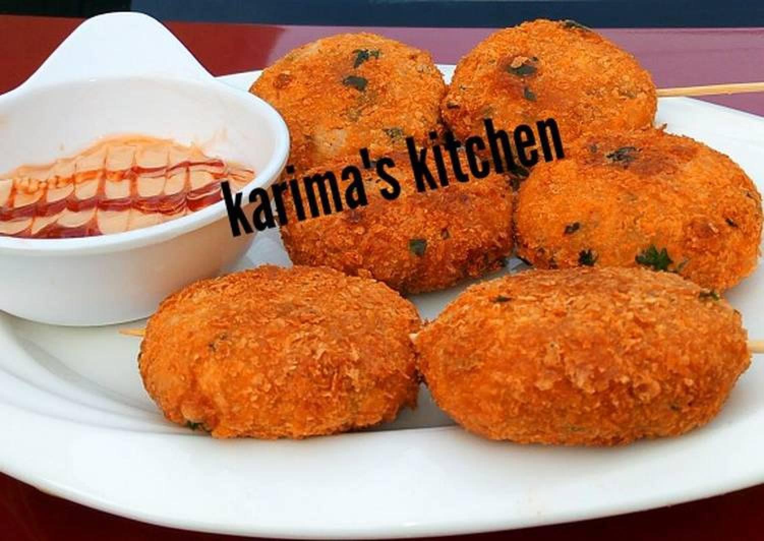 Yam nuggets kebab