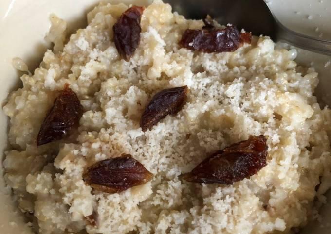 Date and coconut rice - vegan