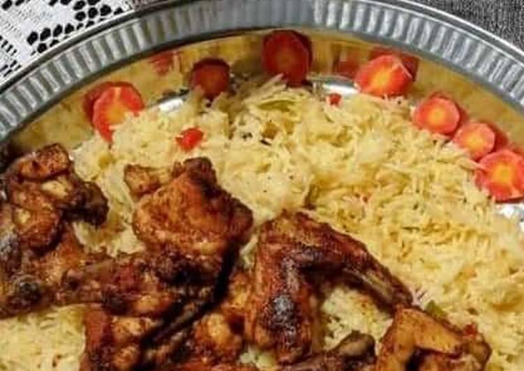 Mandi rice  With tandoori chicken