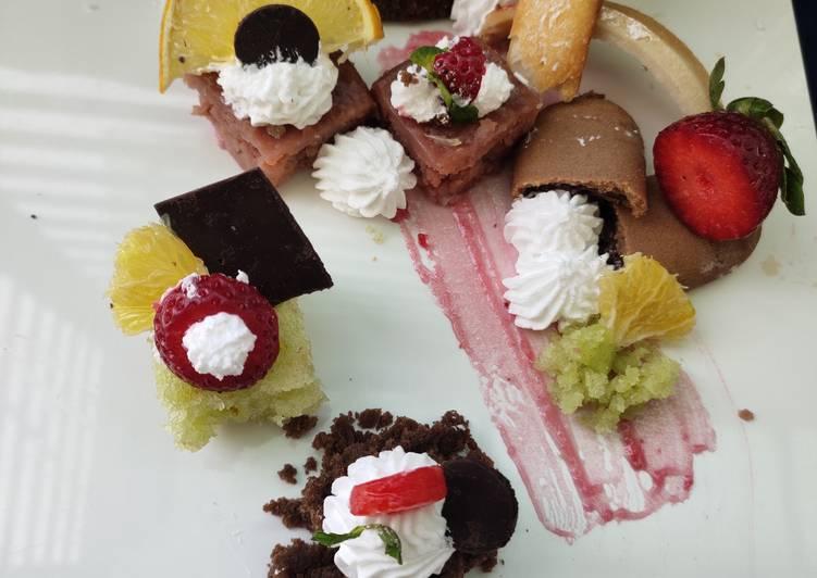 Cake de plate(messy themed platter)