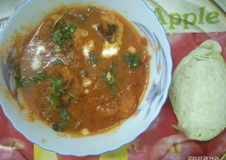 Cabbage Kofta. Curry