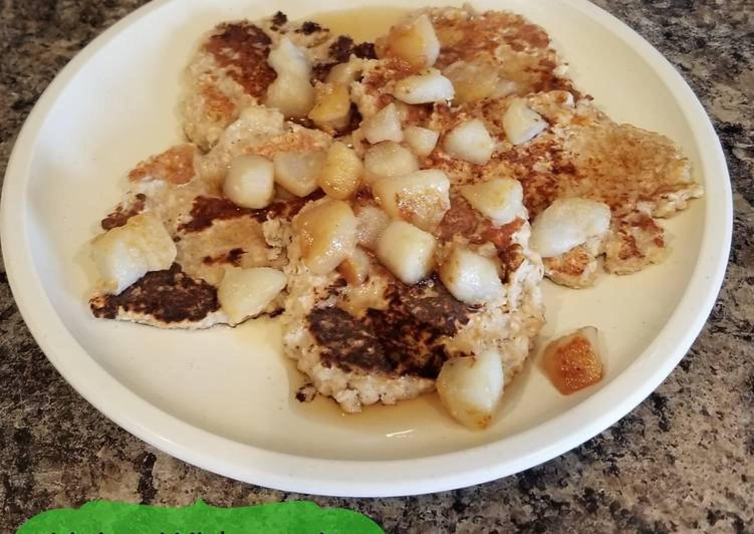 Banana Bread Oatmeal Pancakes