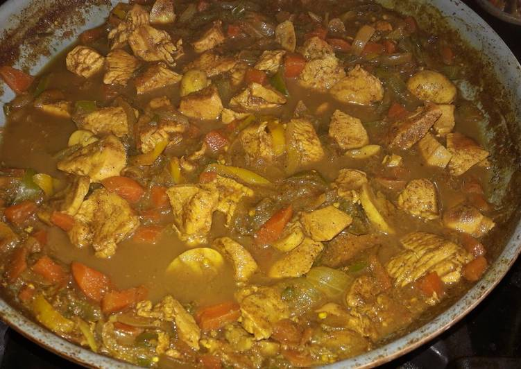 Chinese Pork and chicken curry my style