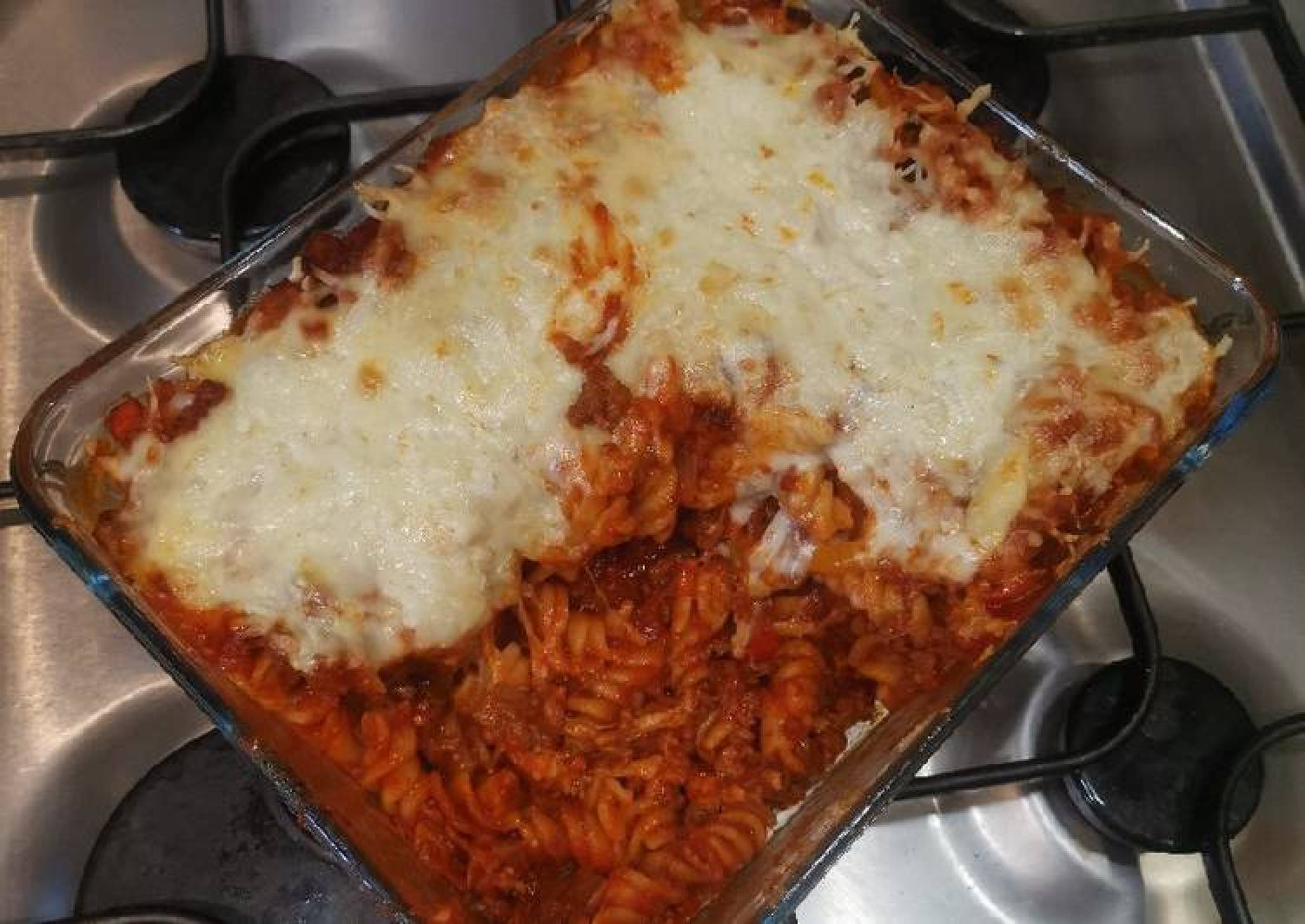 Sloppy Joe BBQ Pasta Bake