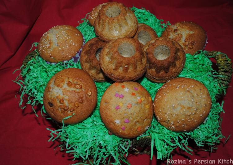 Persian cup cakes (Cake Yazdi)