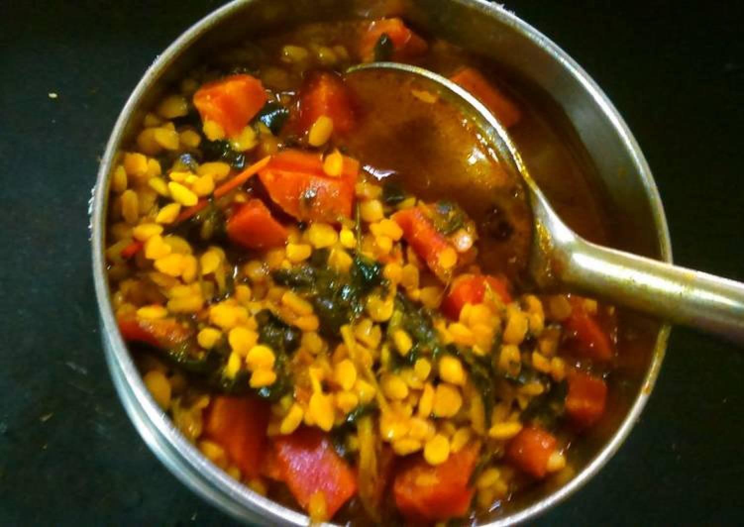 Carrot and Fenugreek sabzi