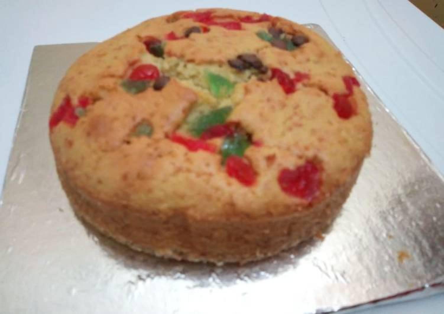 Vanilla cake with cherries #revival contest