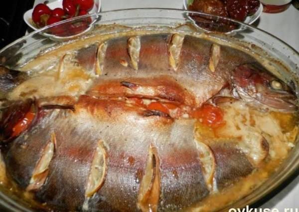 Радужная форель запеченная с помидорами - пошаговый рецепт ...