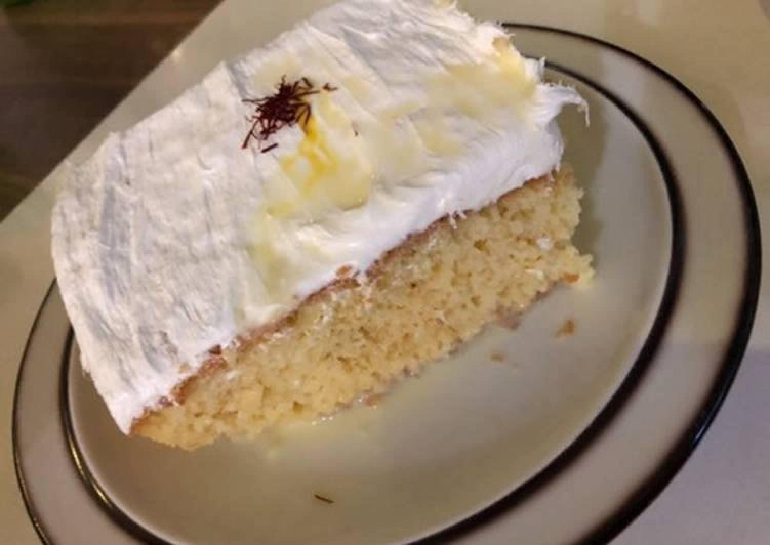 Saffron milk cake 🍰