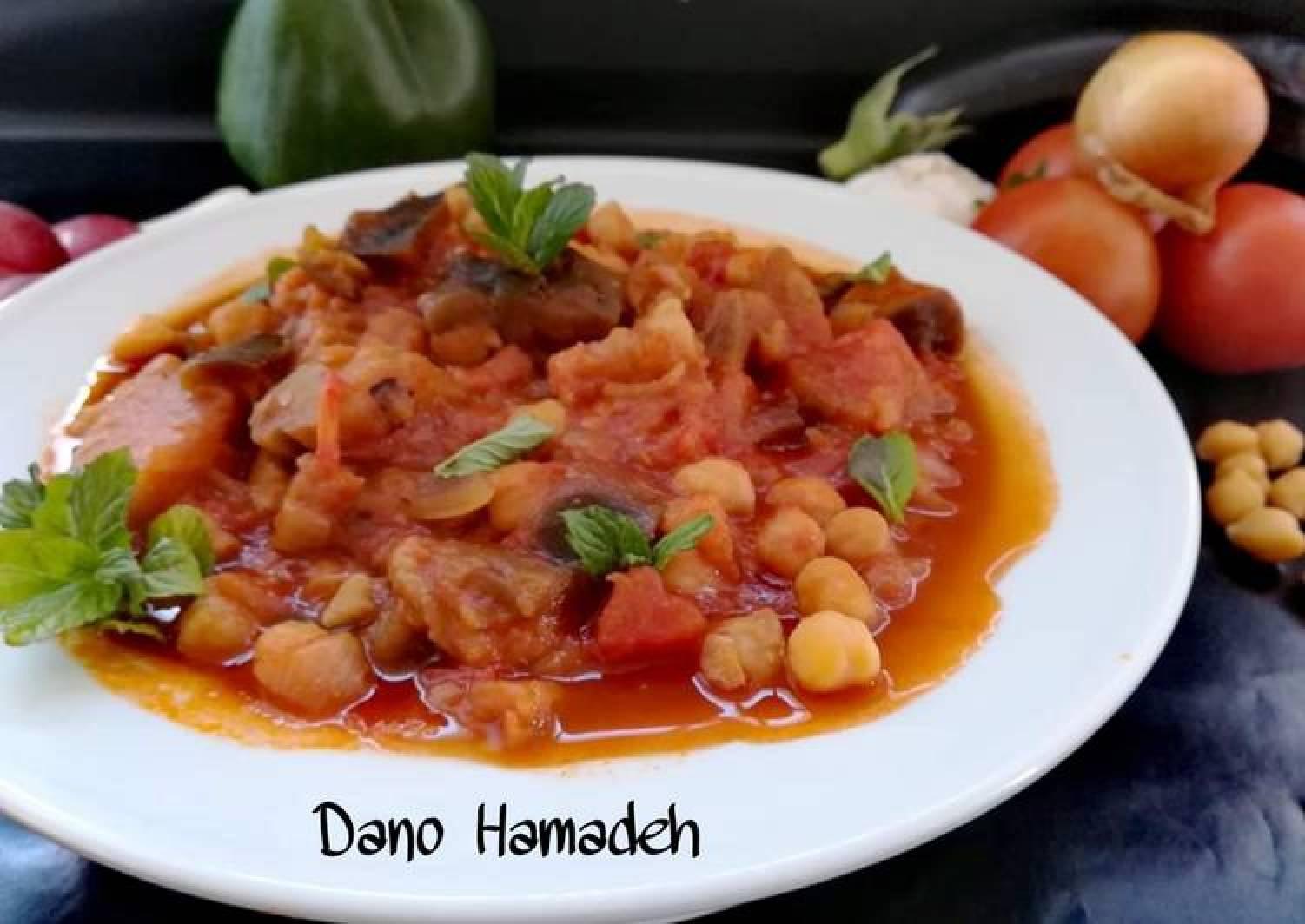 Lebanese Vegetarian eggplant stew, Maghmour (moussaka)