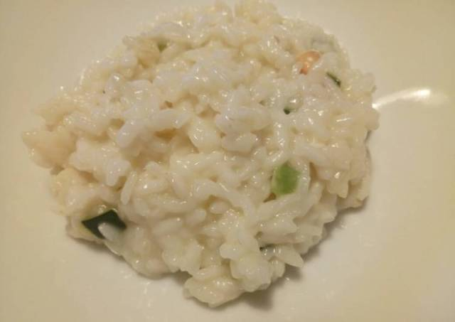 Courgette And Smoked Scamorza Risotto