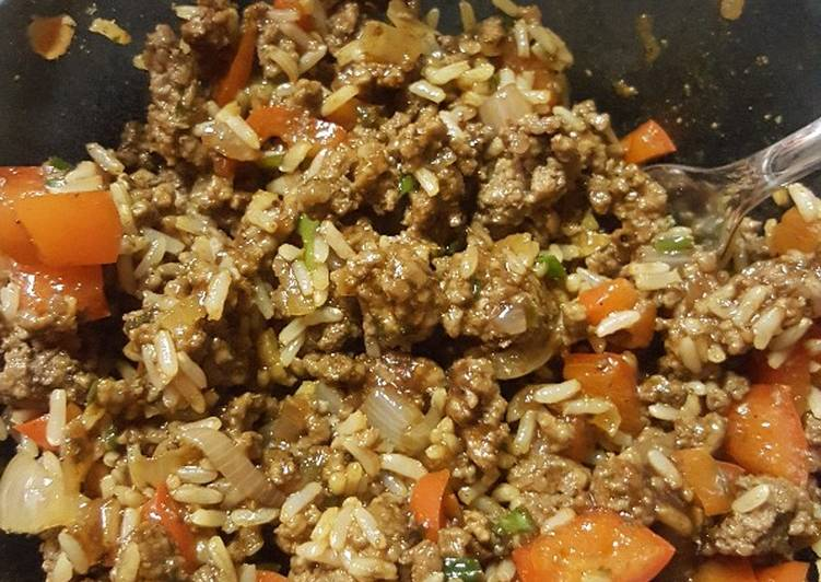 Simple ground beef and rice