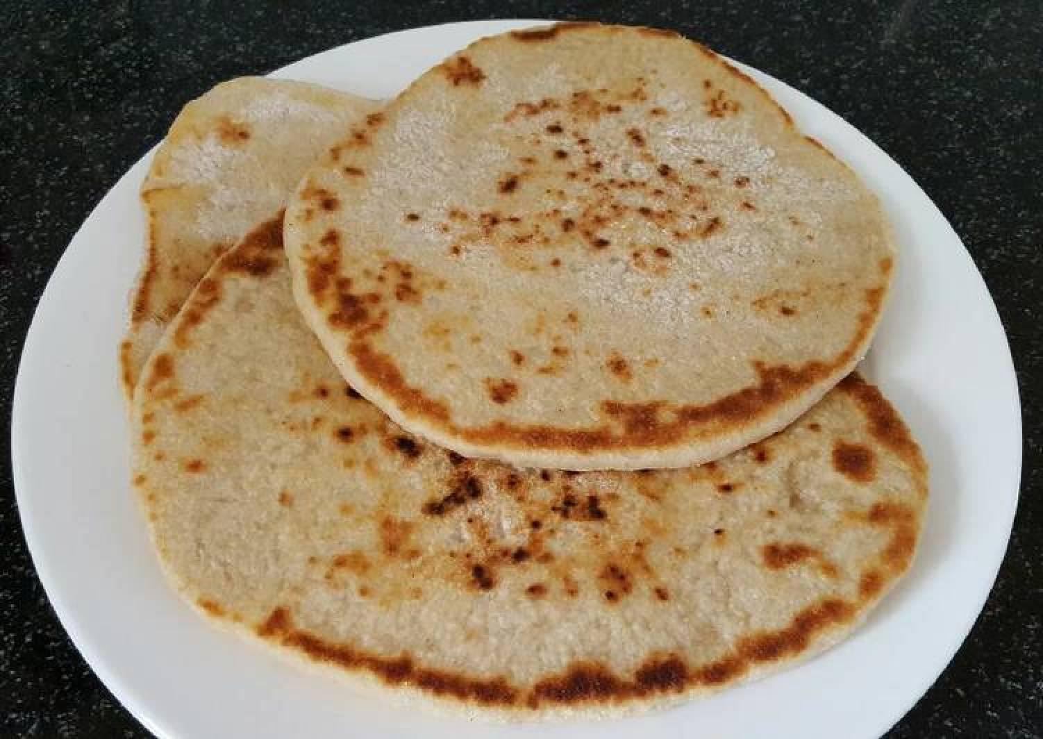 Sourdough Flat bread baked in the pan