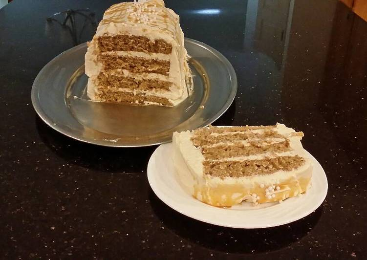 Simple Way to Prepare Award-winning Apple Spice Layer Torte with Caramel Mousse Filling and Frosting