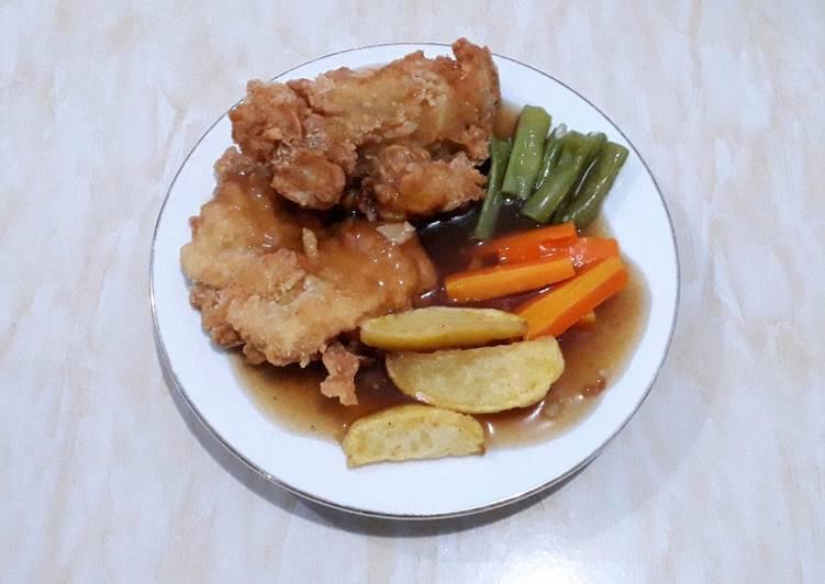 Crispy Chicken Steak Homemade