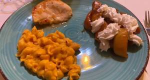 Italian Baked Chicken with Creamy Shells and Southern Fried Apples