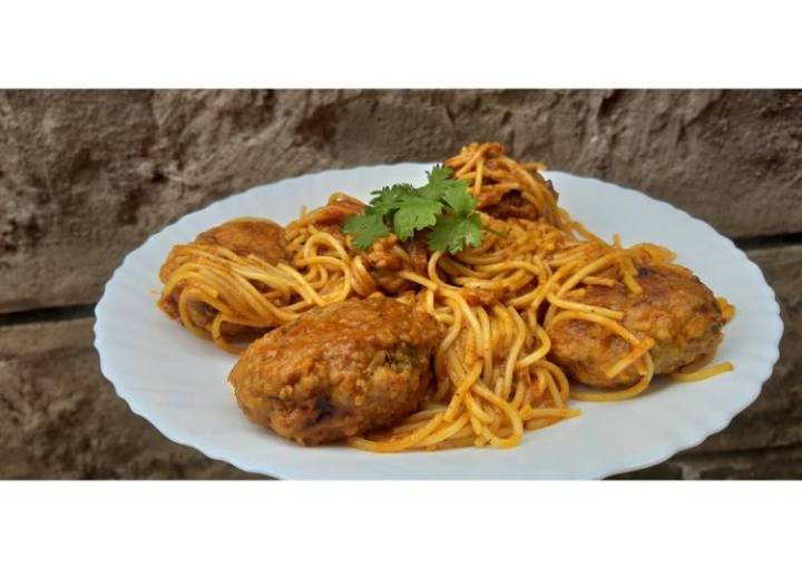 Spaghetti and Meatballs #4weekschallenge #Charityrecipe