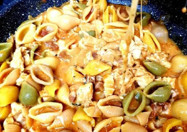My Chicken & Chorizo Mix Conchiglie 💖