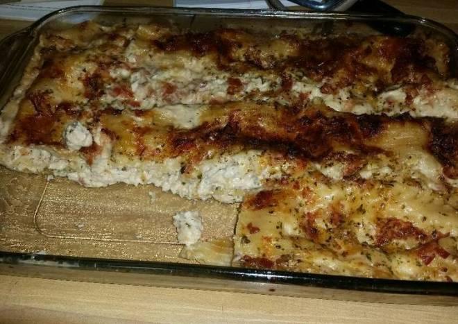 Chicken bacon lasagna