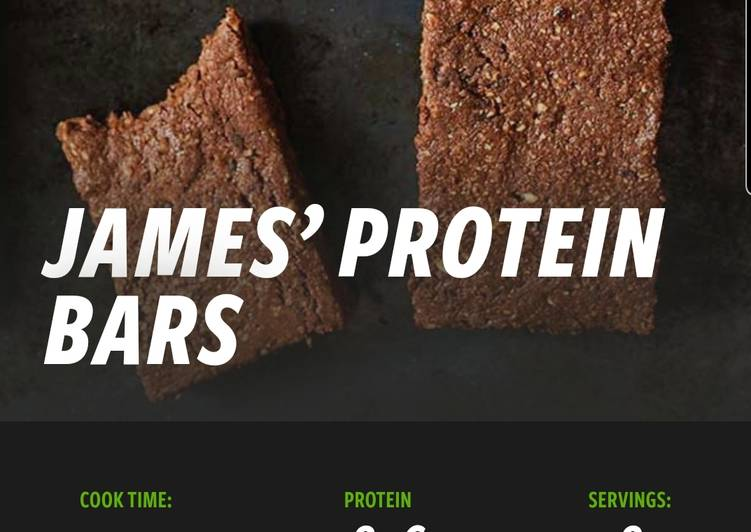 James protein bars