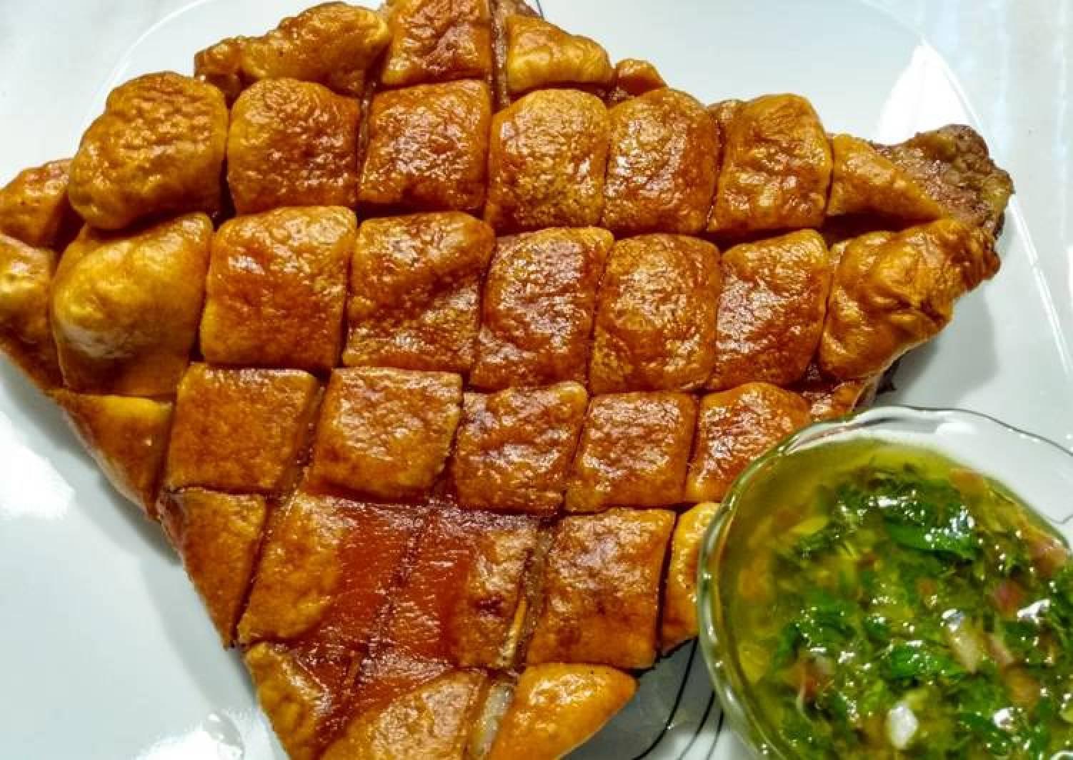 Crispy pork belly with chimichurri