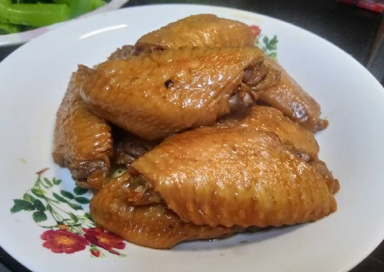 Chicken wing soy sauce