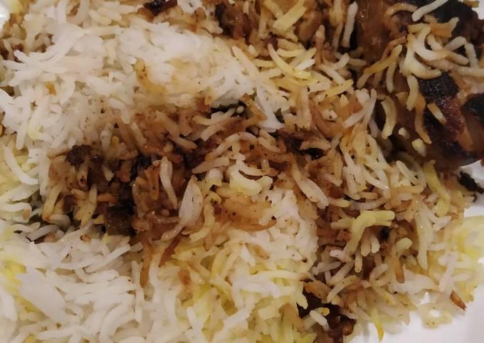 Steps to Make Quick Hyderabadi dum chicken biryani