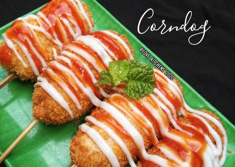 Mozzarella Corndog Tanpa Telur --enak & gampang--